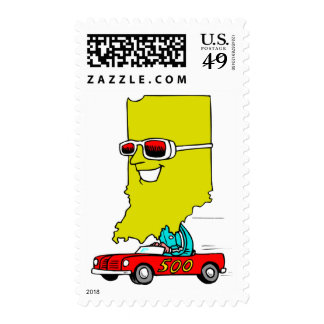 Indiana 500 stamp