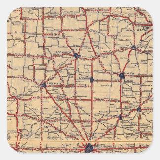 Indiana 5 square sticker