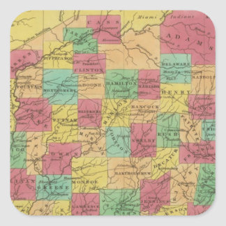 Indiana 6 square sticker