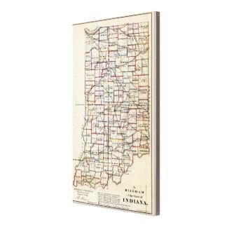 Indiana 7 impresión en lona estirada
