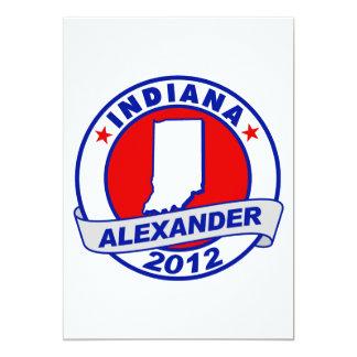Indiana Alexander 5x7 Paper Invitation Card