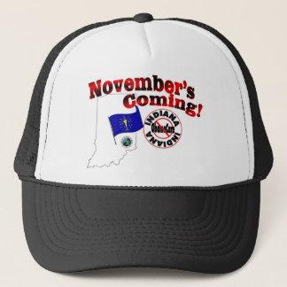 Indiana Anti ObamaCare – November's Coming! Trucker Hat