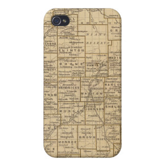 Indiana Atlas Map iPhone 4 Case