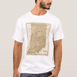 Indiana Atlas Map T-Shirt
