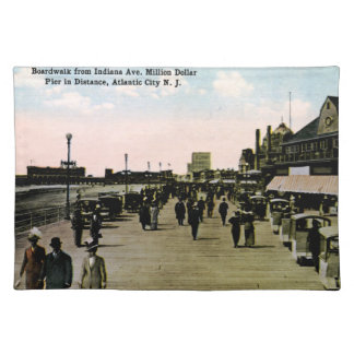 Indiana Ave Boardwalk, Atlantic City Vintage Cloth Placemat