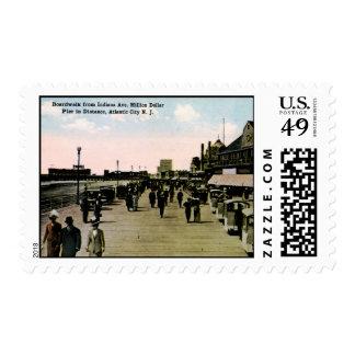 Indiana Ave Boardwalk, Atlantic City Vintage Postage