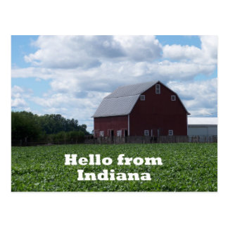 Indiana Barn Postcard