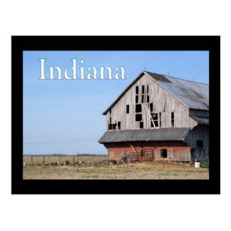 Indiana barns postcard