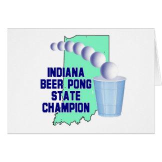 Indiana Beer Pong Champion Card