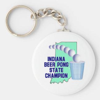 Indiana Beer Pong Champion Keychain