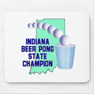 Indiana Beer Pong Champion Mouse Pads