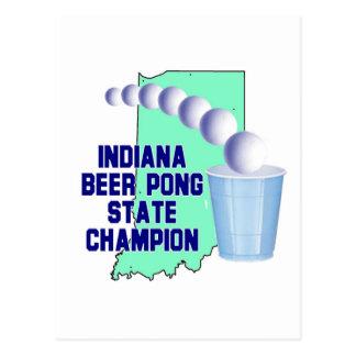 Indiana Beer Pong Champion Postcard