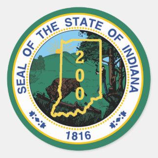 Indiana bicentenaria pegatina redonda