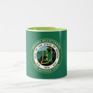 Indiana bicentenaria taza de dos tonos