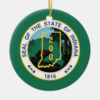 Indiana Bicentennial Ceramic Ornament