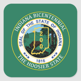 Indiana Bicentennial Square Sticker
