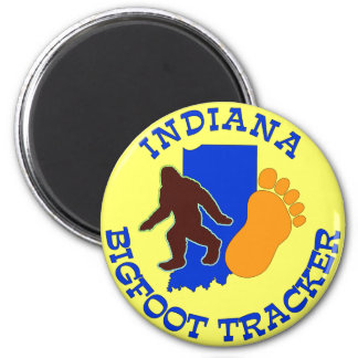 Indiana Bigfoot Tracker 2 Inch Round Magnet