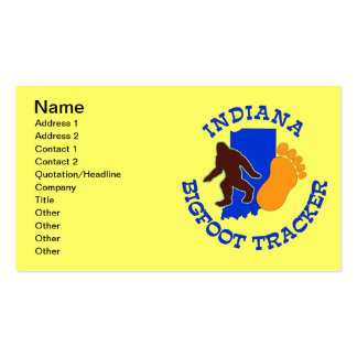 Indiana Bigfoot Tracker Business Cards
