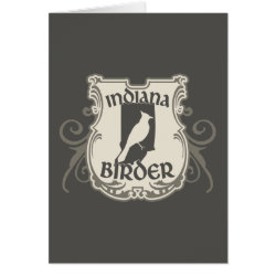 Greeting Card with Indiana Birder design