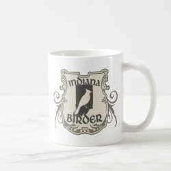 Classic White Mug with Indiana Birder design