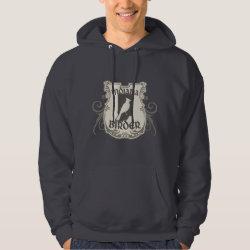 Men's Basic Hooded Sweatshirt with Indiana Birder design