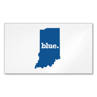INDIANA BLUE STATE MAGNETIC BUSINESS CARD