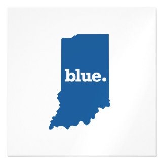 INDIANA BLUE STATE MAGNETIC CARD