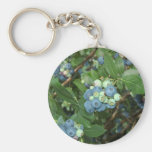Indiana Blueberries Key Chain