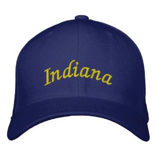 Indiana bordó el gorra gorra bordada