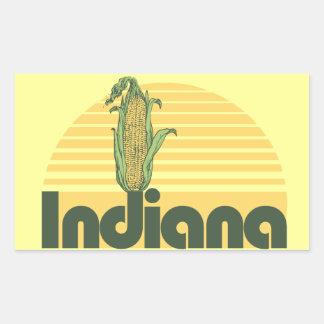 Indiana casera dulce retra pegatina rectangular