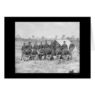 Indiana Cavalry in Petersburg, VA 1864 Card