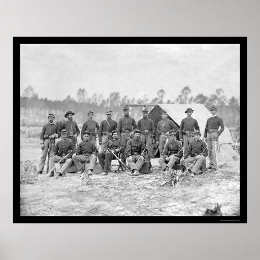 Indiana Cavalry in Petersburg, VA 1864 Poster