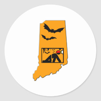 Indiana Caver Classic Round Sticker
