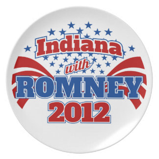 Indiana con Romney 2012 Platos Para Fiestas