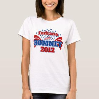 Indiana con Romney 2012 Playera