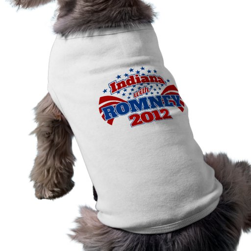 Indiana con Romney 2012 Ropa Para Mascota