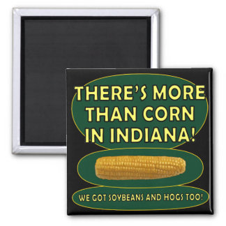 Indiana Corn 2 Inch Square Magnet