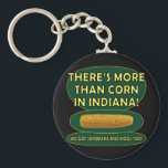 "Indiana Corn Keychain<br><div class=""desc"">Hey! That&#39;s not funny! We raise a lot of soybeans and hogs here. Seriously. Corn rules supreme in the Hoosier State,  but soybeans and hogs come in right behind. How do think the pork tenderloin sandwich became the unofficial state food?</div>"