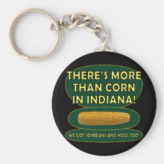 Indiana Corn Basic Round Button Keychain