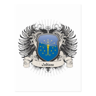 Indiana Crest Postcard