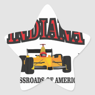 Indiana crossroad star sticker