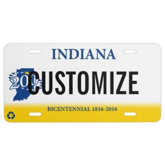 Indiana Custom License Plate