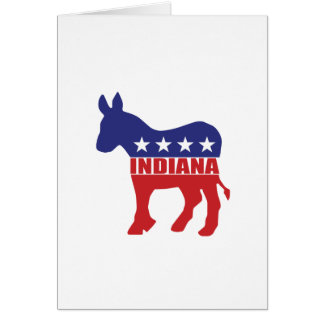 Indiana Democrat Donkey Card