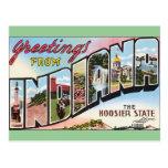 Indiana - diseño de Postacard del vintage Postal
