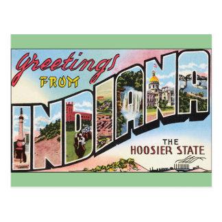 Indiana - diseño de Postacard del vintage Postales