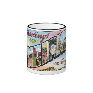 Indiana - diseño de Postacard del vintage Tazas De Café