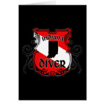 Indiana Diver Note Card