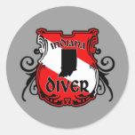 Indiana Diver Round Sticker