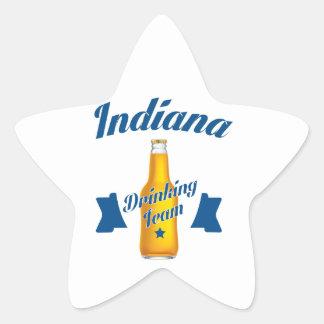Indiana Drinking team Star Sticker