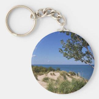 Indiana Dunes National Lakeshore Basic Round Button Keychain